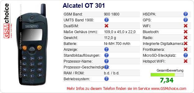 Alcatel OT 301 technische Daten
