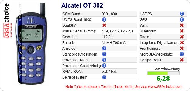 Alcatel OT 302 technische Daten