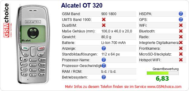 Alcatel OT 320 technische Daten