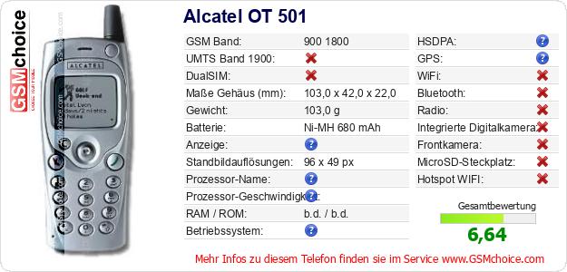 Alcatel OT 501 technische Daten