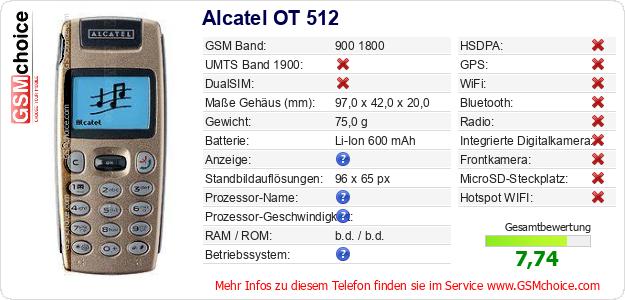 Alcatel OT 512 technische Daten
