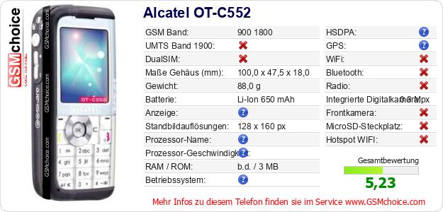 Alcatel OT-C552 technische Daten