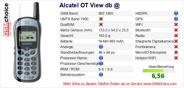 Alcatel OT View db @ technische Daten