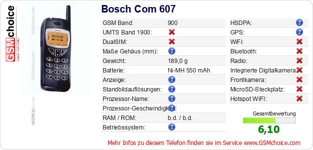 Bosch Com 607 technische Daten