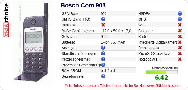 Bosch Com 908 technische Daten