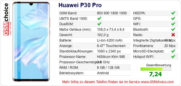 Huawei P30 Pro technische Daten