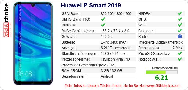 Huawei P Smart 2019 technische Daten