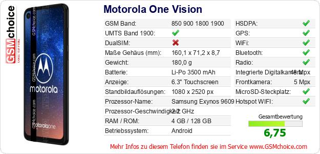 Motorola One Vision technische Daten