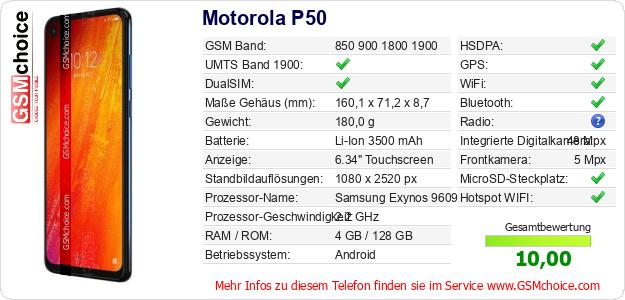 Motorola P50 technische Daten