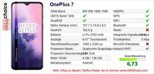 OnePlus 7 technische Daten
