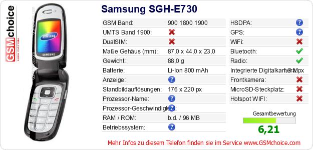 Samsung SGH-E730 technische Daten