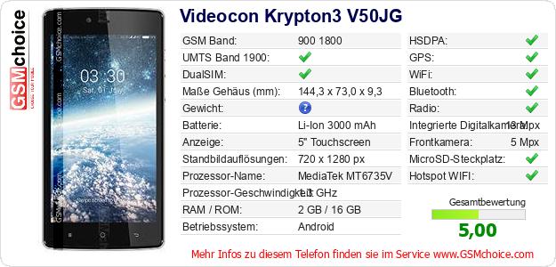 Videocon Krypton3 V50JG technische Daten