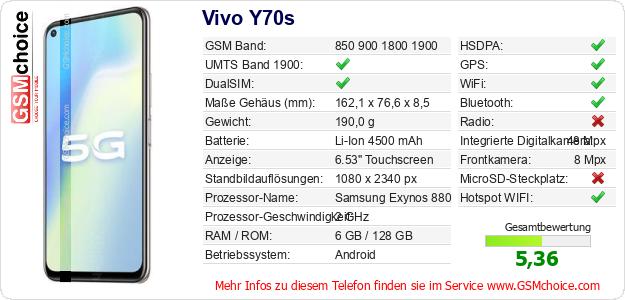 Vivo Y70s technische Daten