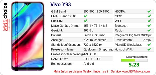 Vivo Y93 technische Daten