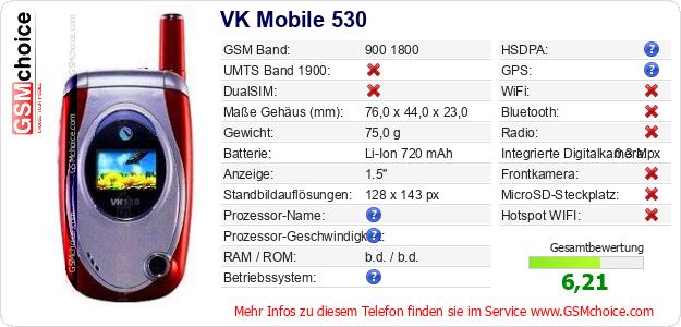 VK Mobile 530 technische Daten