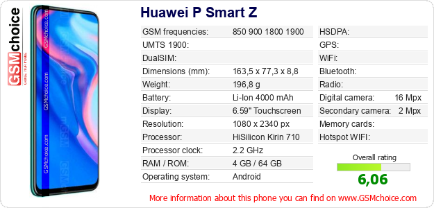 Huawei P Smart Z technical specifications