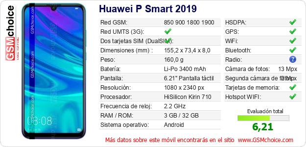 Huawei P Smart 2019 Datos técnicos del móvil