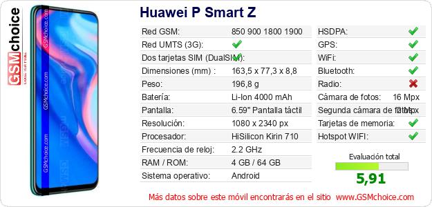 Huawei P Smart Z Datos técnicos del móvil