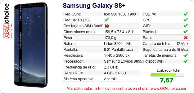 Samsung Galaxy S8+ Datos t?cnicos del m?vil