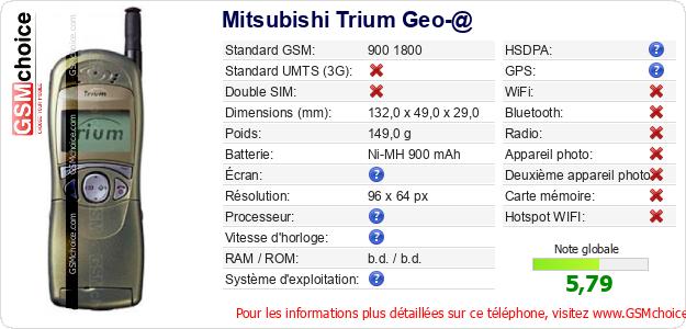 Mitsubishi Trium Geo-@ Fiche technique