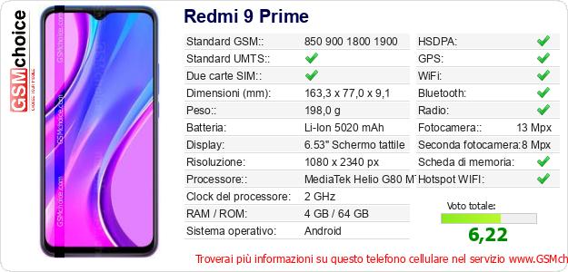 Redmi 9 Prime Dati tecnici di telefono cellulare