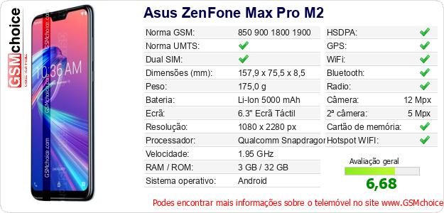 Asus ZenFone Max Pro M2 Especificações técnicas do telemóvel