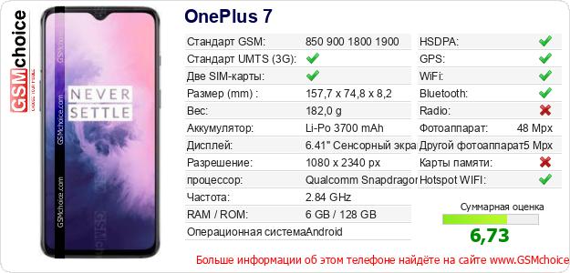 OnePlus 7 Технические данные телефона